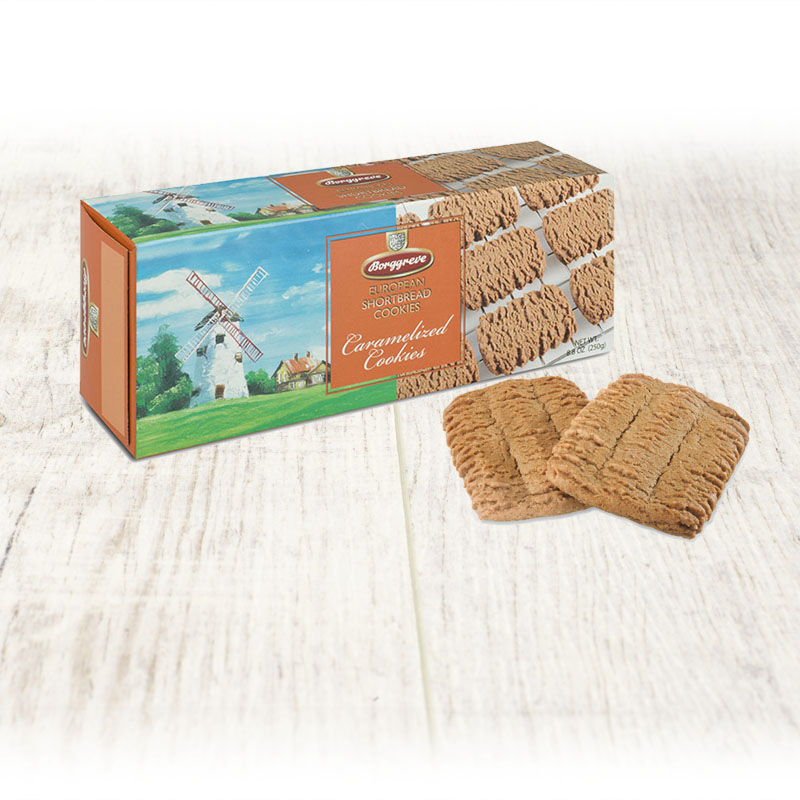 European Shortbread Cookies Caramelized  - Borggreve rusk and biscuit factory, Germany