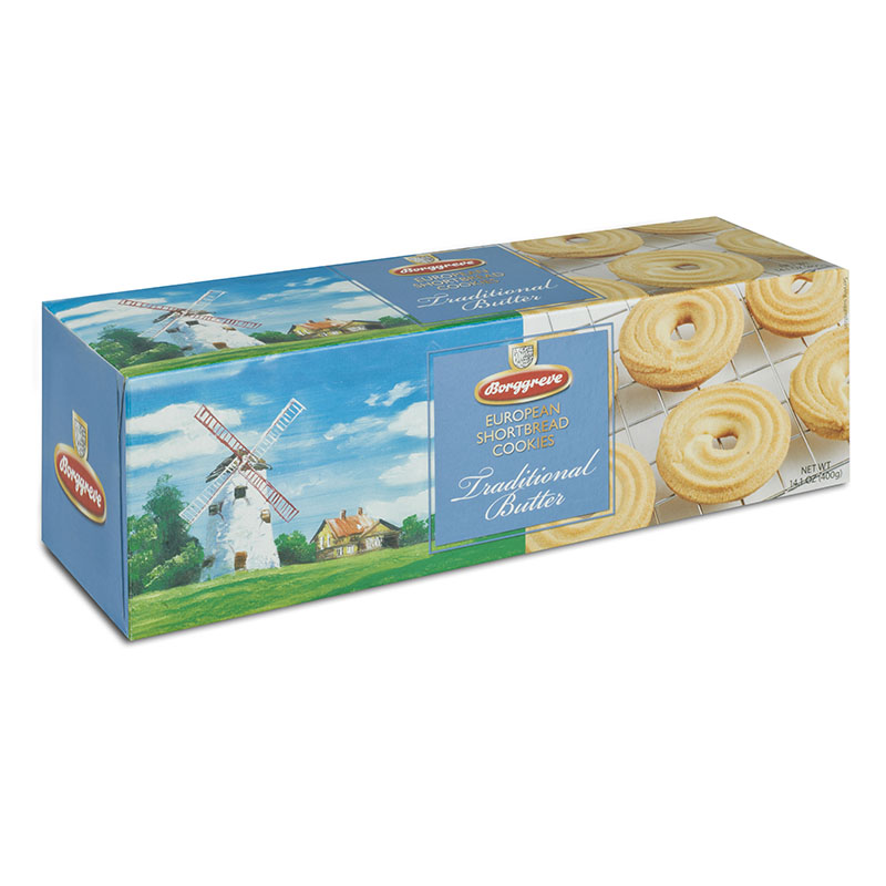 European Shortbread Cookies Traditional Butter. Shortbread biscuit rings -- Borggreve rusk and biscuit factory, Germany