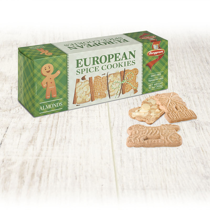 European Spice Cookies Almonds Borggreve Biscuit Factory Germany