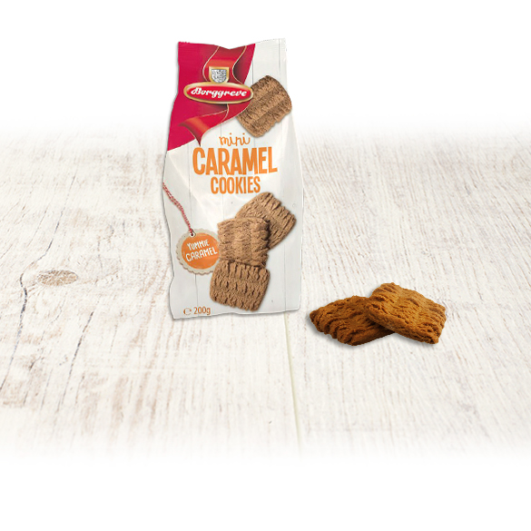 Mini Caramel Cookies - Borggreve rusk and biscuit factory, Germany